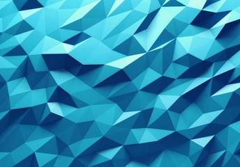 Obraz Blue color triangle geometrical background - fototapety do salonu