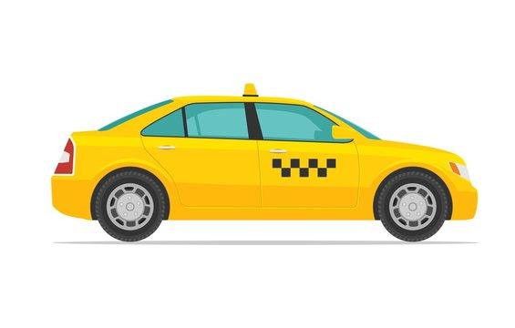 Taxi car. Flat styled vector illustration