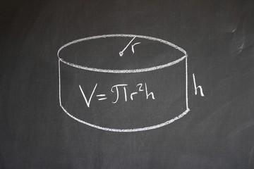 Studying mathematics on a blackboard