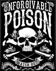 skull print/skull illustration/evil skull/concert posters/skull