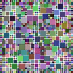 Multicolor square mosaic design