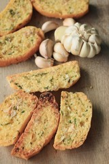 Bread garlic with butter
