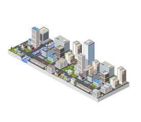 Large isometric city