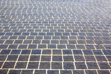 Outdoor concrete block floor background and texture