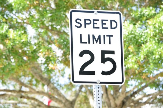 Speed Limit Sign 25 MPH