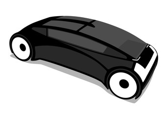 futuristic vehicle cutout picture, vector illustration