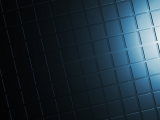 Abstract dark blue wall, 3d digital background