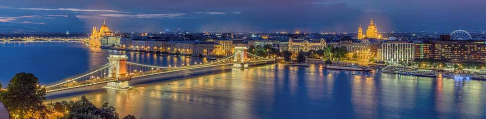 Aluminium Prints Budapest Budapest beleuchtet