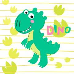 Dinosaur Rex vector illustration.