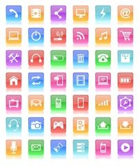 glossy button icon