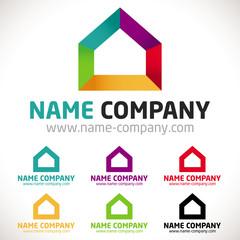logo peintre peinture maison décorateur