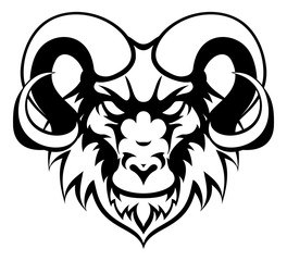 Ram Mean Animal Mascot