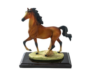 Horse runs.