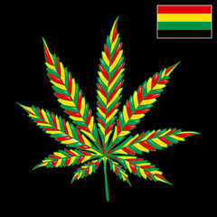 Marijuana Jamaica-background