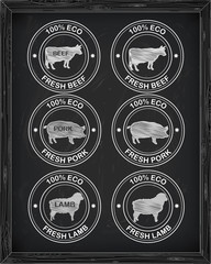 beautiful beef  icon, pork, lamb