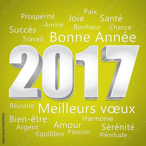 2017 bonne ann e carte de v ux verte et argent meilleurs v ux fichier vectoriel libre de - Carte voeux gratuite 2017 ...