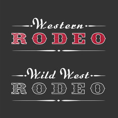 Western rodeo vector template logo
