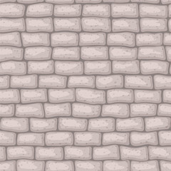 Seamless texture brick stonewall. Vector illustration. Architecture pattern