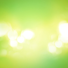 Abstract Shine Light Green Bokeh Background St Patrick Day Holiday