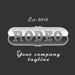 American rodeo vector sign