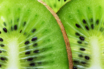 sliced kiwi fruit on a full frame horizontal