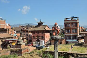 Непал, Бхактапур, городская улица
