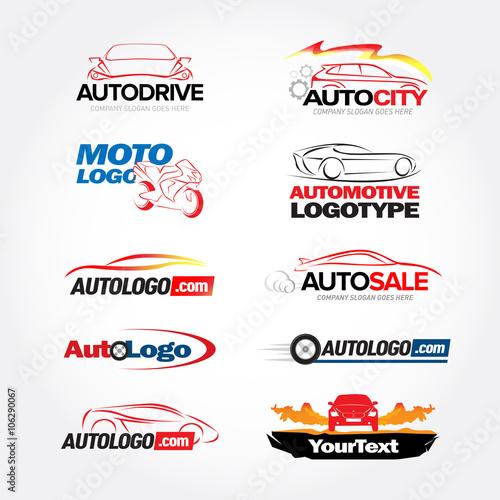 Car service logos designs