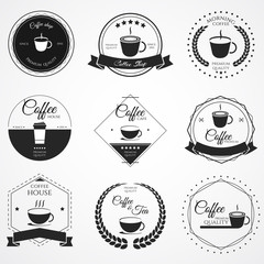 Coffee logo label pack