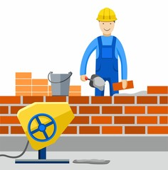 Bricklayer, Builder, profession, the construction of buildings.