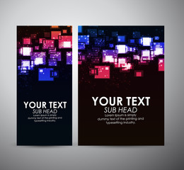 Abstract colorful squares. Graphic resources design template. Vector illustration