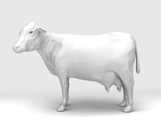 Side View Ceramic Cow