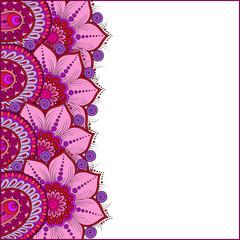 Paisley  decorative ornament. Floral design hand drawn illustrat