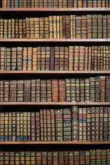 old books in the nationla library of Vienna.