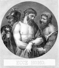 Louvre Museum, Table attribute to Titian, vintage engraving.