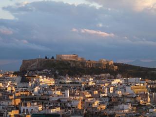 Lumière du soir sur Athènes, Grèce, Europe