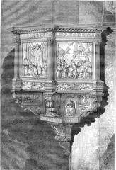 Pulpit of the church of Santa Croce in Florence by Benedetto da