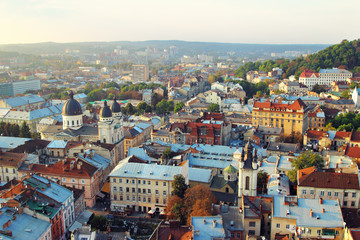 Top view from Lviv City Tower.