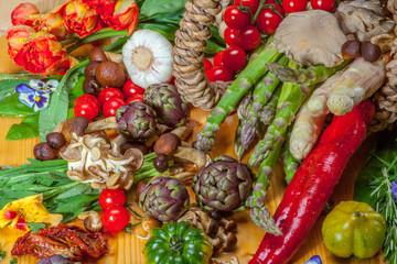 verschiedene Gemüse im Korb
