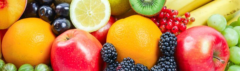 Zitrusfrüchte, Obst und Beeren, Banner