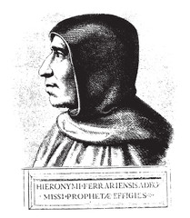 Girolamo Savonarola, after a painting of preserved at the conven