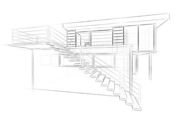 Bilder und videos suchen konstruktionszeichnung - Architektur skizze ...