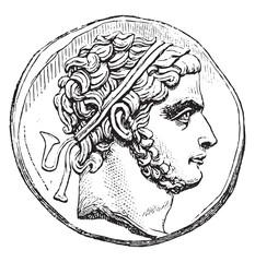 Prusias I, vintage engraving.