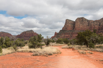 Red Rock State Park on cloudy spring day