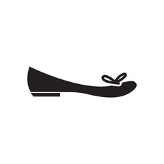 Flat icon in black and white women's shoes