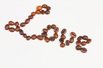 coffee beans with a mug