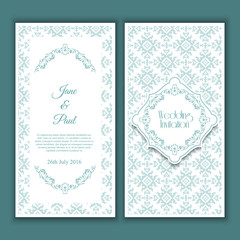 Decorative wedding invitation design