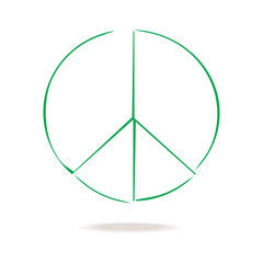 Symbol of peace. Sign in grunge style.