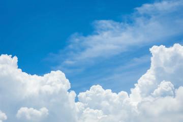 Aluminium Prints Heaven cloud and blue sky background