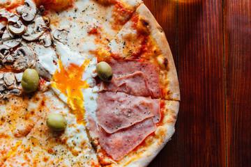 Delicious Quattro Stagioni Pizza