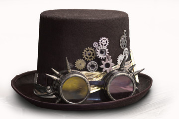 classic hat in the style of steampunk